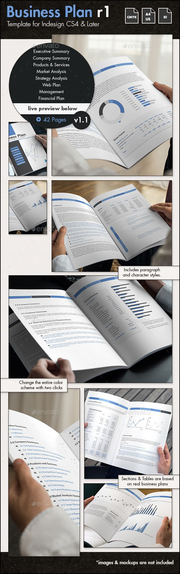 best ideas about business plan presentation 42 pages business plan template graphicriver net