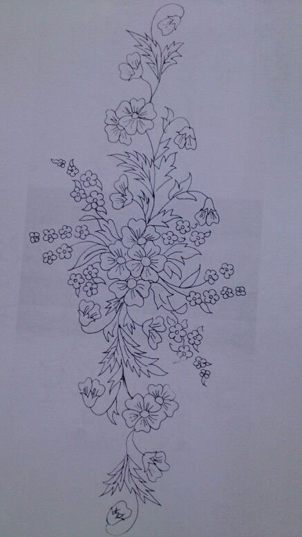 Nice floral embroidery pattern