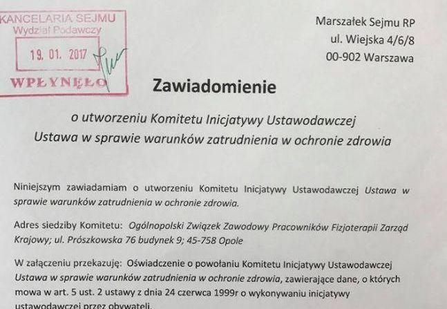 W dniu 16.02.2017r. Marszałek Sejmu zatwierdził przyjęcie złożonego przez PZM projektu ustawy obywatelskiej o warunkach zatrudnienia w ochronie zdrowia (projekt złożony w dniu 19.01.2017r. wymagał dostarczenia dodatkowych danych na wniosek Marszałka Sejmu). Od tego dnia, mamy 3 miesiące na zebranie MINIMUM 100'000 podpisów! Biorąc pod uwagę fakt, że na koniec trzeba podliczyć zebrane wpisy oraz przygotować je do transportu do Marszałka Sejmu, TERMIN ZBIERANIA PODPISÓW UPŁYWA 8 MAJA!  CO…