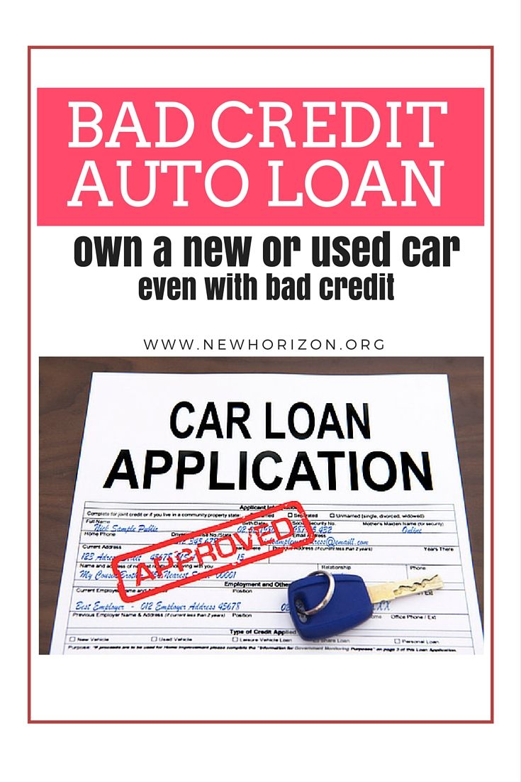 Bad credit auto loan own a new or used car even with bad credit