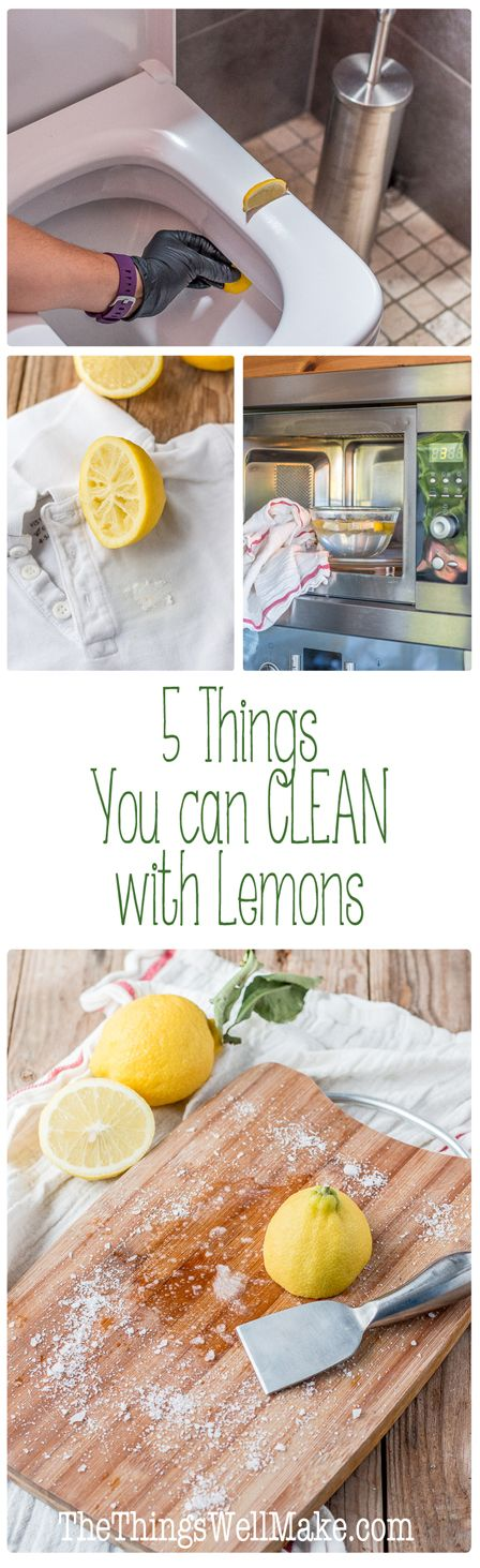Lemons are great for green cleaning around the house, learn about 5 things that you can clean with lemons.