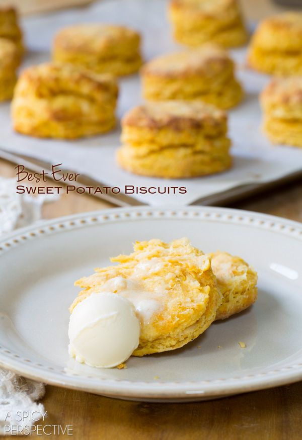 They claim these are  the Best Sweet Potato Biscuits! Light Flaky and Moist. I may need to whip these up and test it out myself!