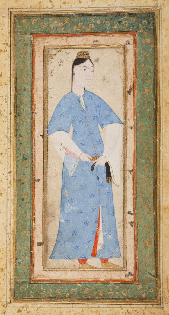 Ottoman: Young Woman in Blue Turkey, late 16th century (Photo credit to LACMA)