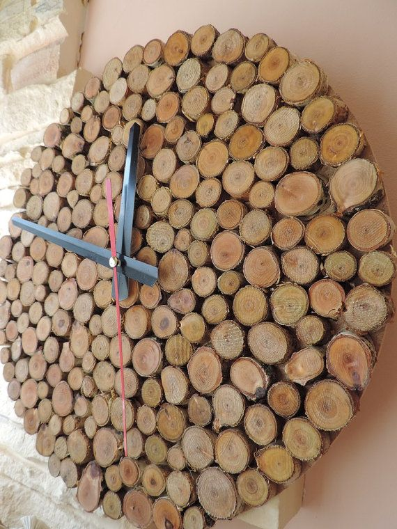Rustic Wall Clock Unique Wall Clocks Large Wall by Ecowoodstyle