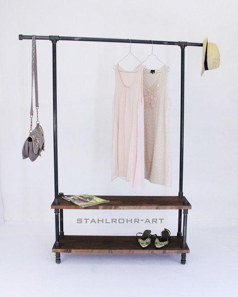 loft garderobe industriedesign kleiderst nder von. Black Bedroom Furniture Sets. Home Design Ideas