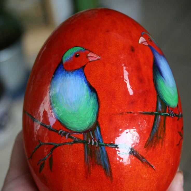 ceramiczne jajko malowane naszkliwnie, Danuta Rożnowska-Borys