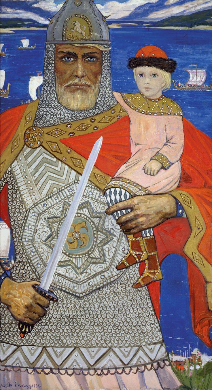 Prince Oleg and Igor by Ilya Glazunov, 1972.