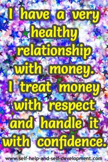 having a healthy relationship with money