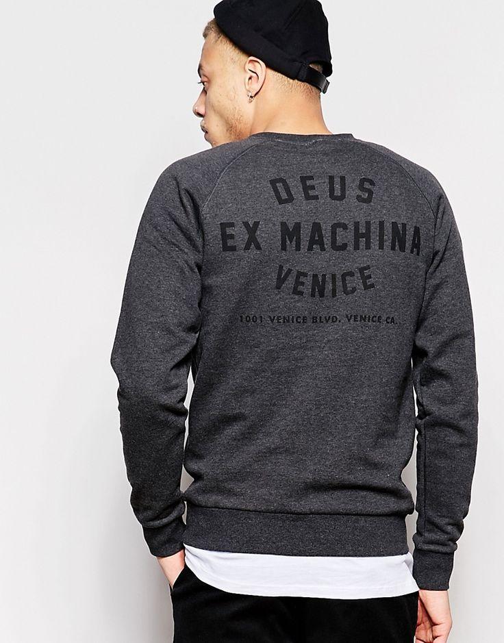 Image 1 ofDeus Ex Machina Sweatshirt With Venice LA Back Print