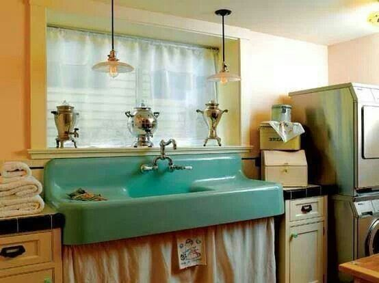 Vintage farm kitchen sink Vintage Retro Kitchens Pinterest