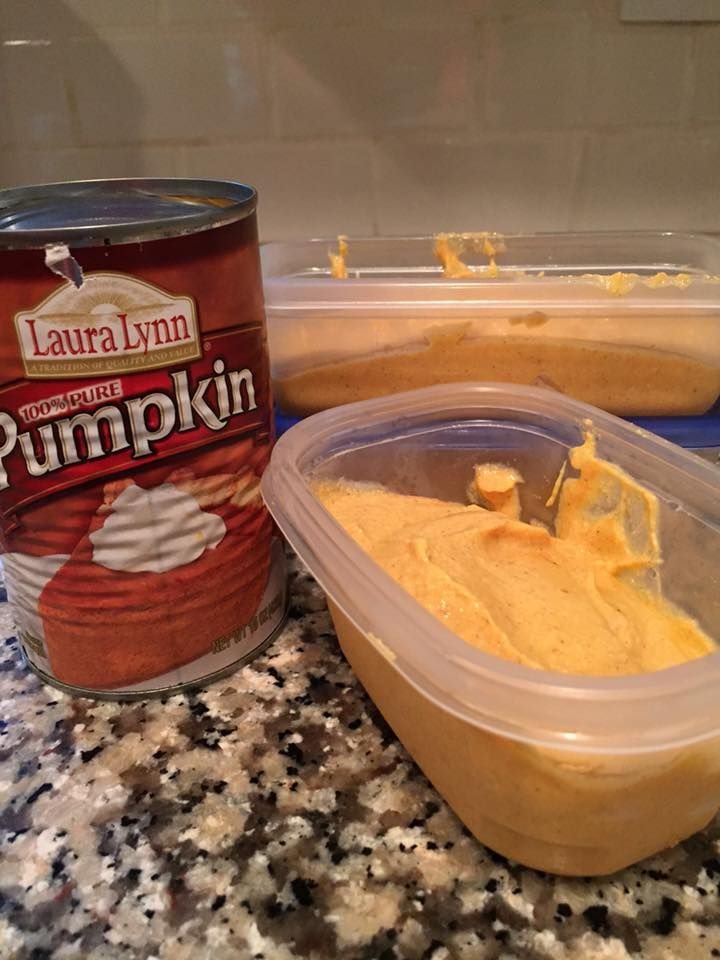 Cottage Pumpkin Whip   cottage cheese(1 & 1/2 cups) so I combined this with 3/4 cup of canned pumpkin, pumpkin spice, stevia sweetener to taste, vanilla, and 2 scoops of vanilla whey protein powder in my food processor.