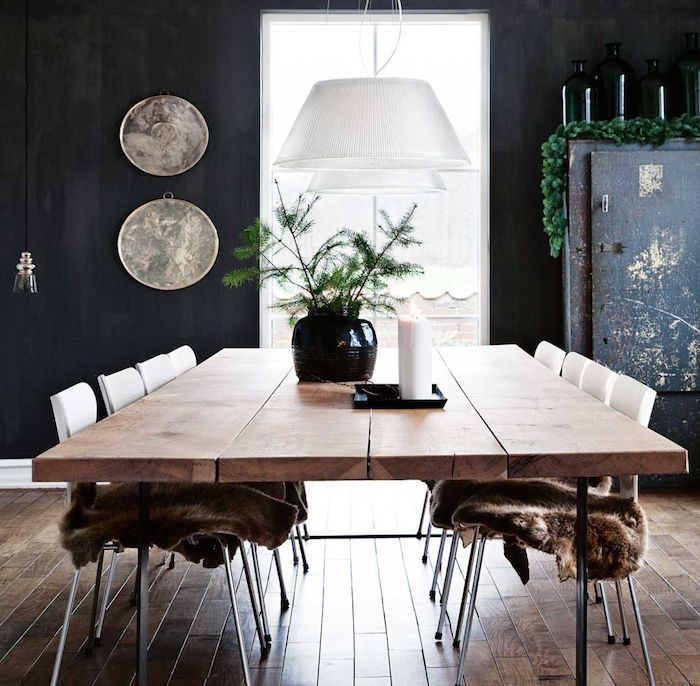 scandinavian style that 39 s not monochrome dining space. Black Bedroom Furniture Sets. Home Design Ideas