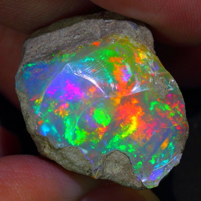 I love my birthstone! 33.33ct - Tip Top Stunning Prism Rainbow Natural Opal   - OPAL AUCTIONS  http://www.opalauctions.com/auctions/rough-opal/item-393056