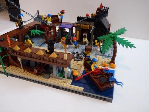 lego pirate town | Pirate's Bay town