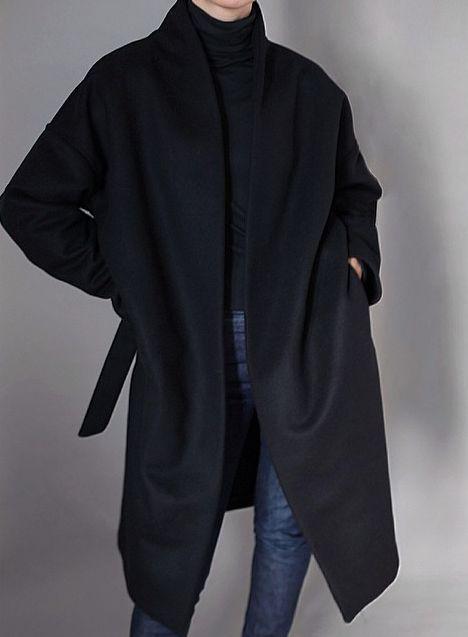 Totême chelsea coat black Winter 14/15