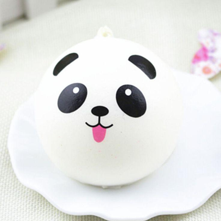 1 Stks Mooie Mini Willekeurige Squishy Soft Panda Brood Cake Buns Telefoon Riemen Charmes Party Gunsten