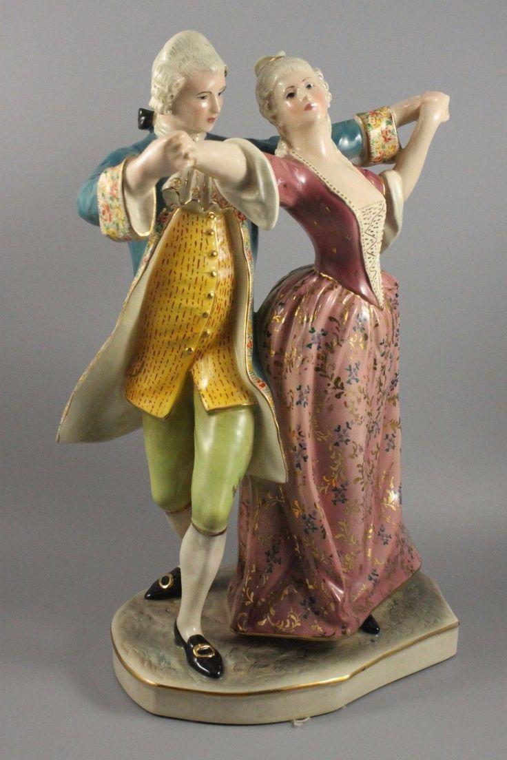 Capodimonte Prof Eugenio Pattarino Figurine Dancing Couple WorldWide   eBay