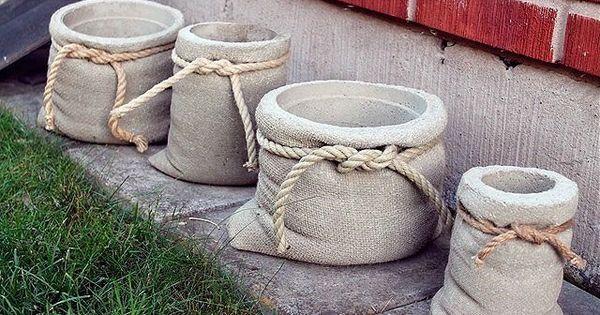бетон 2 | Цемент, бетон | Pinterest | Sacks and Pots