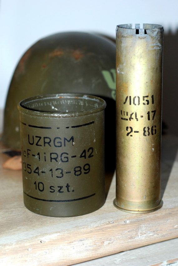 Shell Casing Grenades Detonators Container by SlawekTreasures
