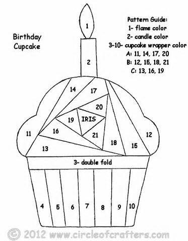 Iris Folding cupcake pattern - - Yahoo Image Search Results
