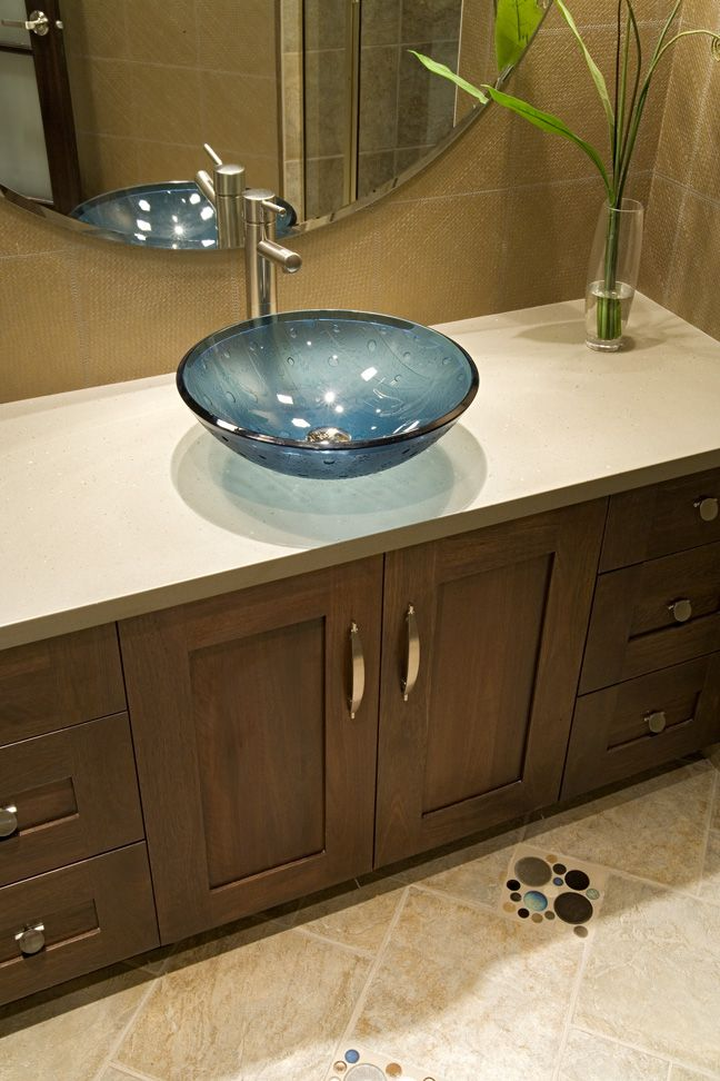Unique Blue Sink Basin Bowl Vanity With Fun Pops Of Colored Tiles Creates A  Fun Contemporary. MinneapolisBasinsShowroomBathroom ...