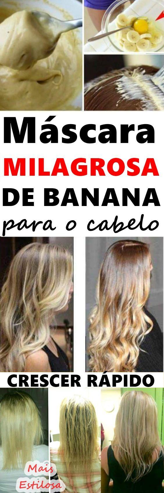A banana é uma fruta rica em ingredientes que aumentam a produção nos folículos pilosos, como a vitamina A. Esse nutriente age nas células capilares e faz com que o cabelo cresça mais rápido. As vitaminas que encontramos na banana fazem com que essa fruta seja utiliza para fazer o cabelo crescer mais rápido e combater a queda capilar, dentre outros benefícios.