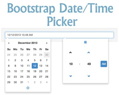 Bootstrap Date/Time Picker #bootstrap #timepicker #datepicker #datetimepicker #date #time #widget