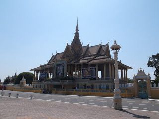 Royal Palace, in mourning A Tour Around PP Sights http://jouljet.blogspot.com/2013/01/a-tour-around-pp-sights.html #Cambodia #PhnomPenh #travel