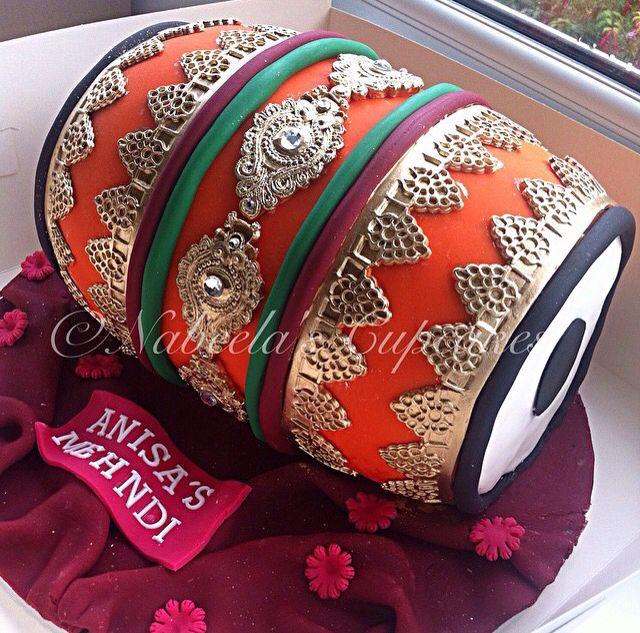 Dholki cake for mehndi!