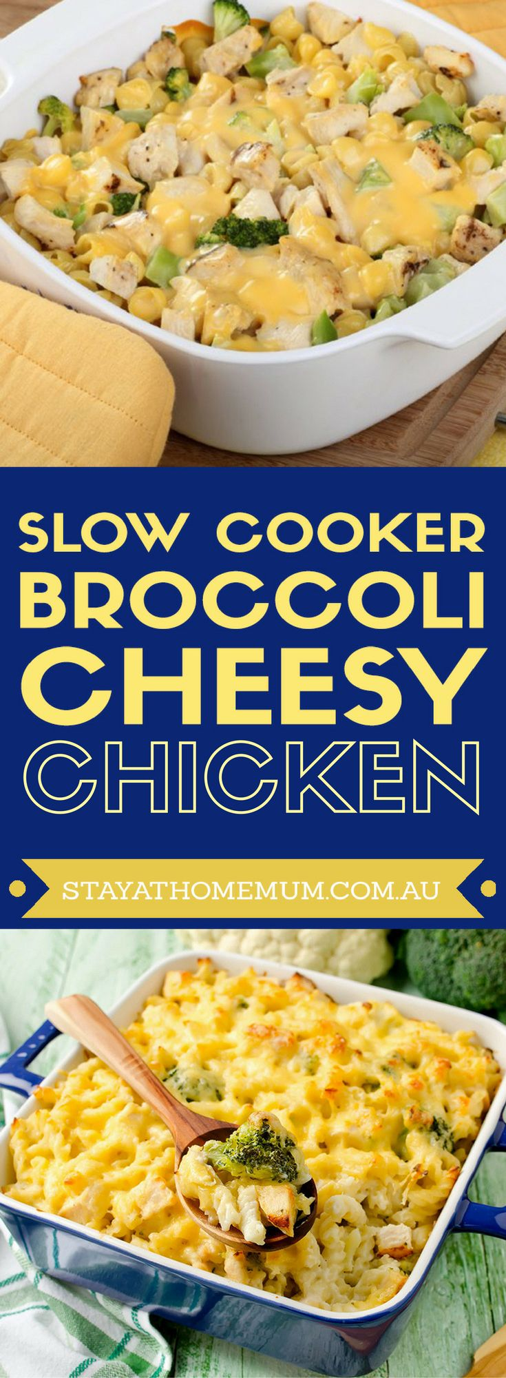 Slowcooker Broccoli Cheesy Chicken is one of my kids favourite meals, and probably the only way I can get them to eat Broccoli!