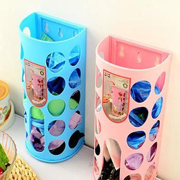 Household Garbage Bags Storage Box Plastic Bag The Kitchen Garbage Bags On Wall Shelf Hanging Baskets Extraction Kitchen Tools