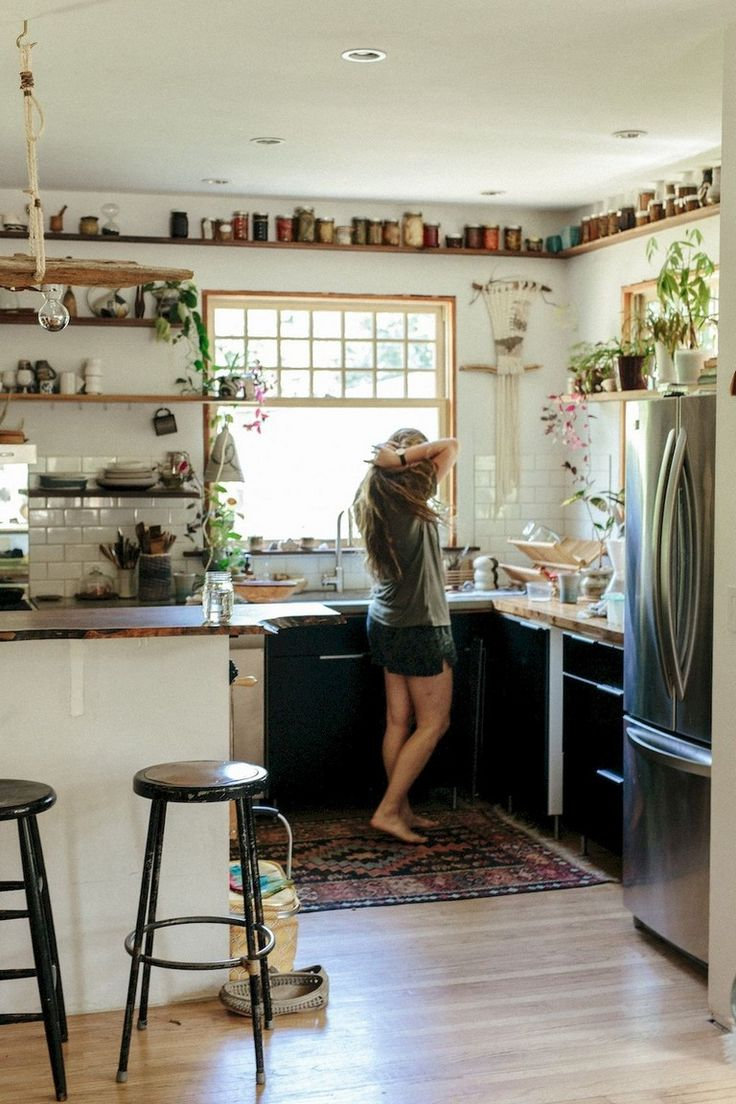 79 creative small kitchen design organization ideas page 60 of 80 bohemian kitchen on kitchen decor hippie id=45182