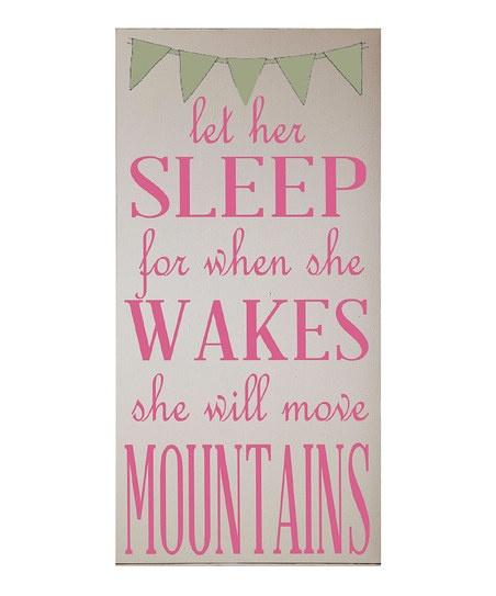 Let Her Sleep Wall Art