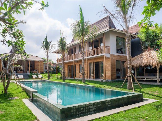 Villa Alea | 5 bedrooms | Kerobokan, Bali #villa #exterior #garden #swimmingpool #ricefield view #bali #holiday