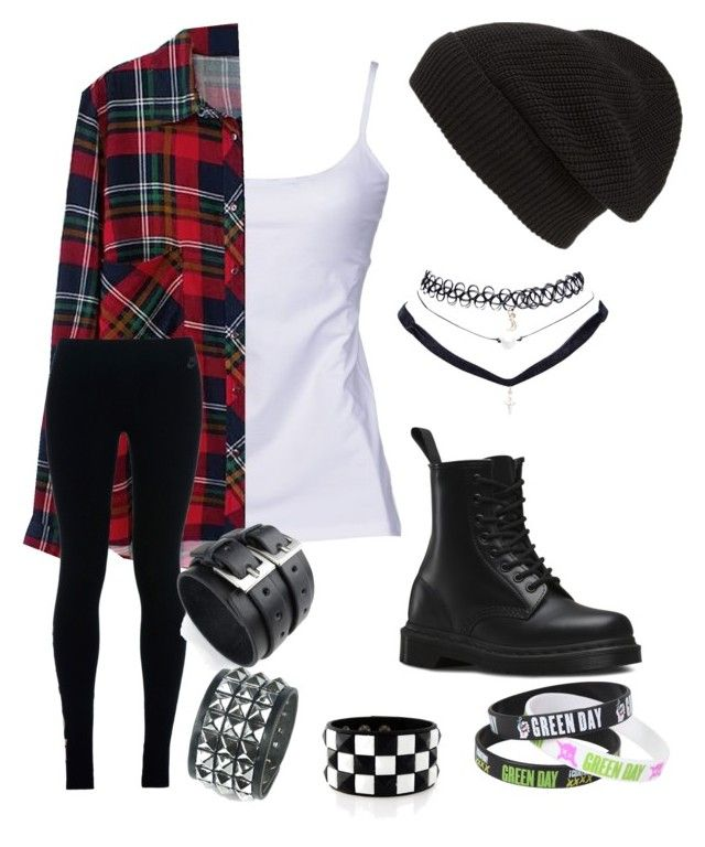 """Grunge"" by bringmethechemicalromanc on Polyvore featuring D&G, Phase 3, Wet Seal, Dr. Martens and NIKE"