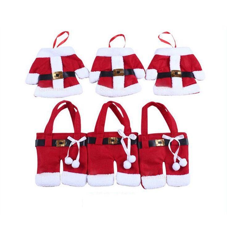 Gennissy 12 шт./лот рождественские украшения, столовые приборы костюм silveware держатели porckets ножи FOLKS пакет Снеговик ужин Главная конфеты