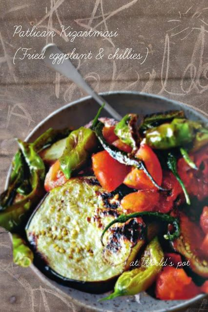 Patlican Kizartmasi (Fried eggplant & chillies) - Vinete prajite cu chilii (Turkish cuisine)