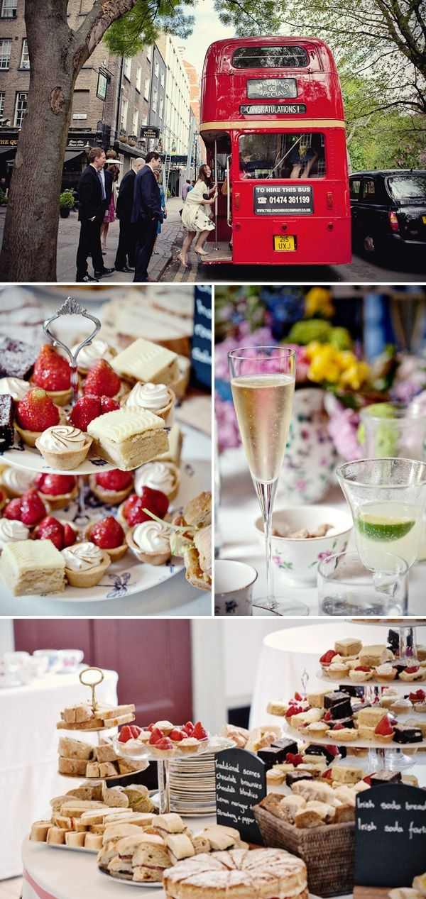 london tea party wedding  I love the idea of a high tea reception!