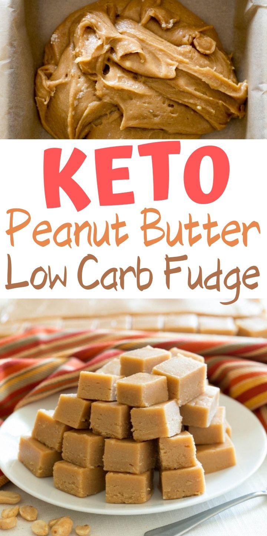 Fudge de mantequilla de maní keto