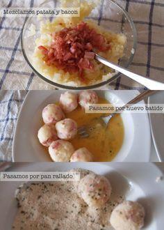 Receta de bolitas de patata fácil « Cocinar para niños Ver receta: http://blogs.mis-recetas.org/recetas-para-ninos/2012/10/17/receta-de-bolitas-de-patata-fac