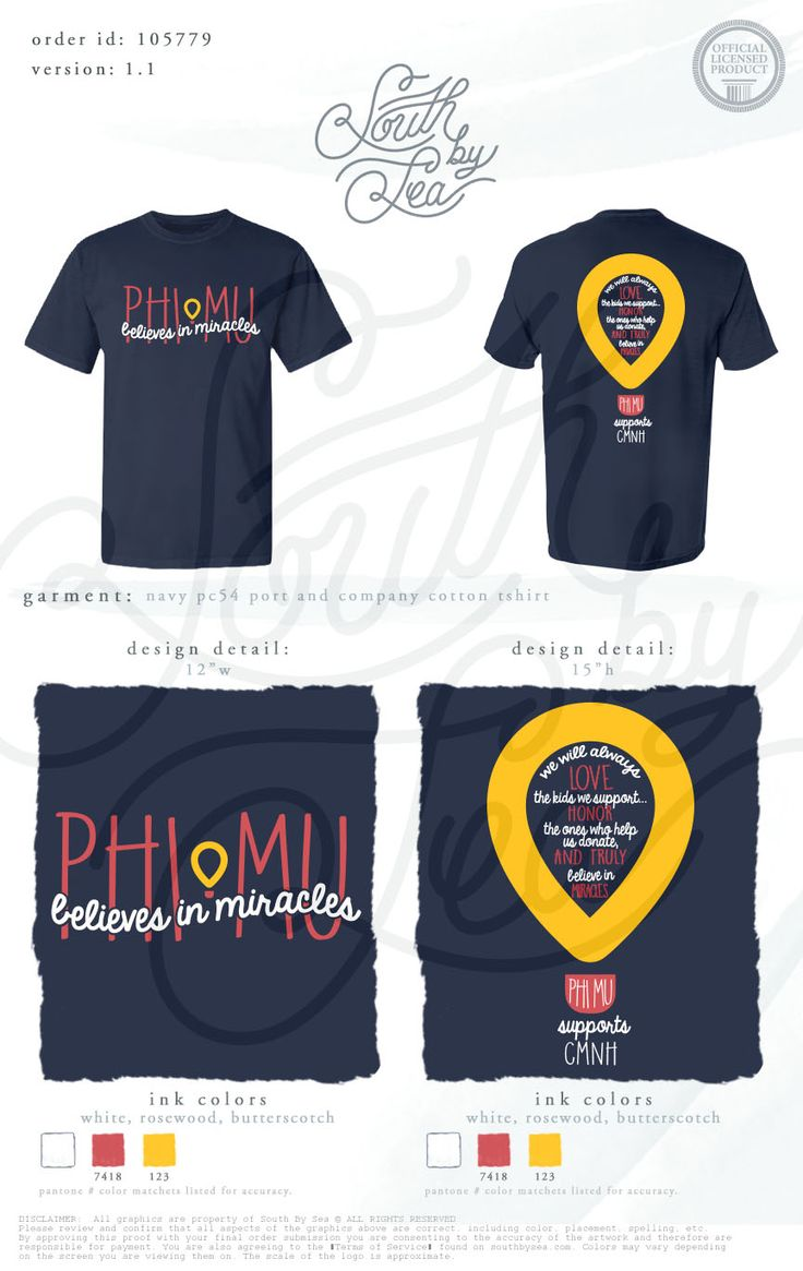 Phi Mu | Believes in Miracles | Philanthropy T-Shirt Design | Childrens Miracle Network Hospitals | South by Sea | Greek Tee Shirts | Greek Tank Tops | Custom Apparel Design | Custom Greek Apparel | Sorority Tee Shirts | Sorority Tanks | Sorority Shirt Designs