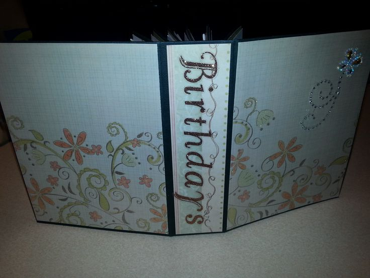 Birthday Book Cover, using stack the deck binding.