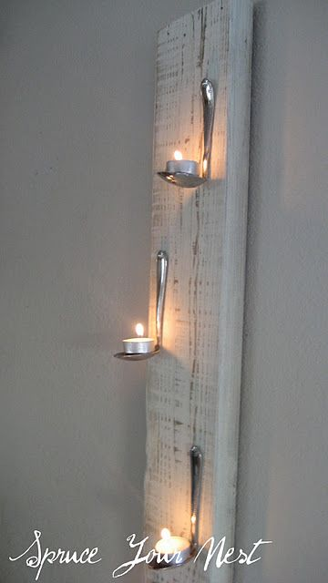 DIY candle spoon rests. Spoon ladels would also work.