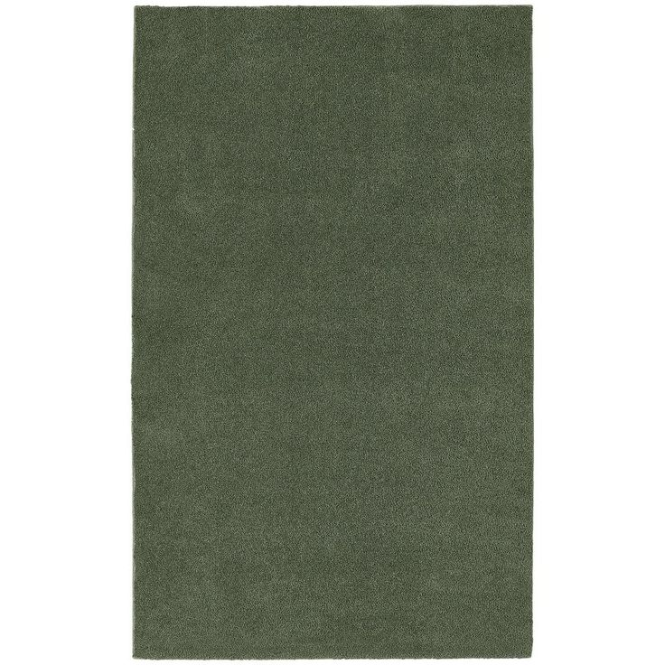 Garland Rug Bathroom Carpet - 5' x 8', Green