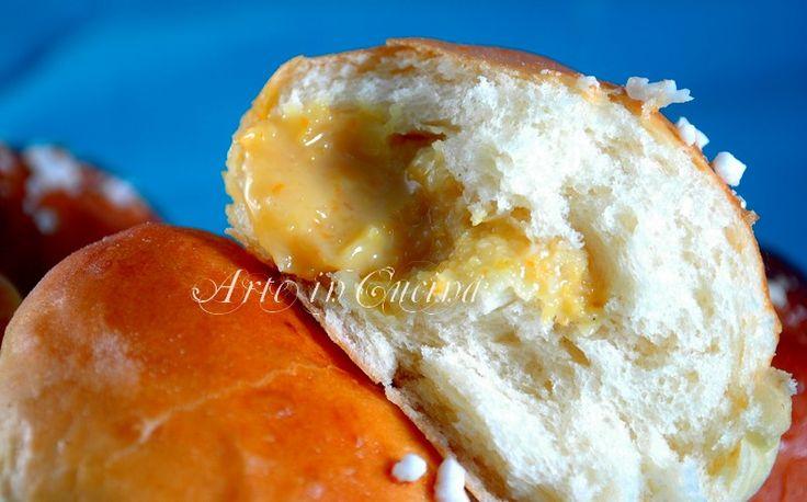 Panini soffici al latte con crema alla arancia e limone