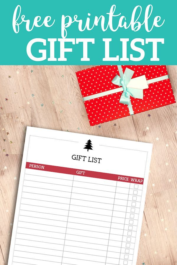 Free Printable Christmas List Template {Gift List | Recipes, Crafts ...