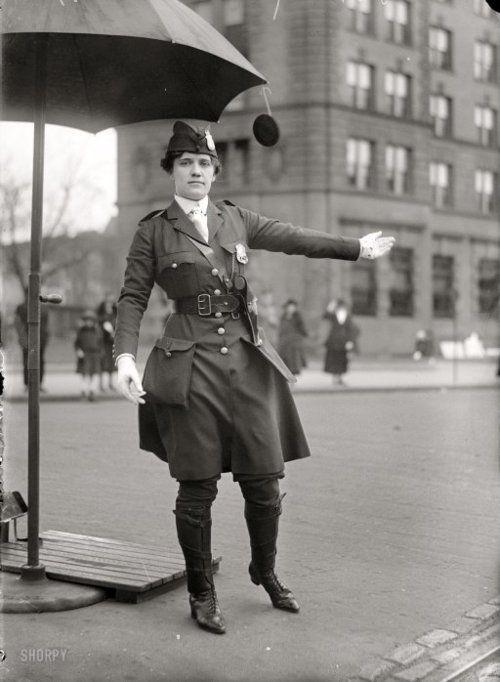 Traffic Cop, 1918 (viaShorpy Historical Photo Archive)