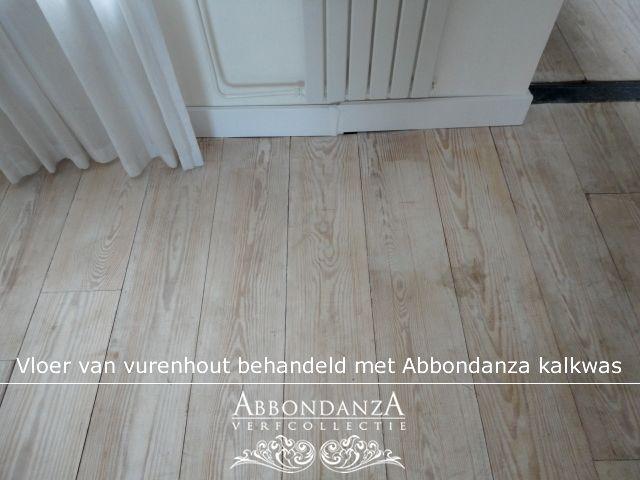 Vurenhouten vloer in de whitewash met Abbondanza kalkwas