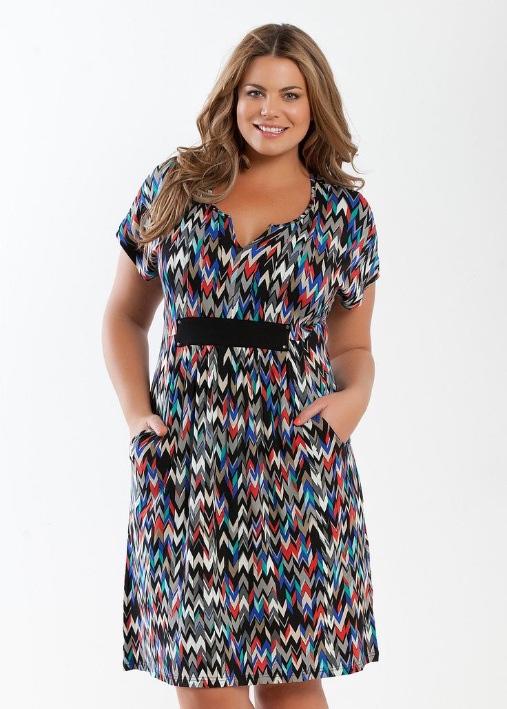 Plus Size Dresses - Maxi & Large Sizes Australian Dresses | Big Ladies, Casual, Black, White, Size 14 Plus Dresses & More - KALEIDOSCOPE DRESS - Virtu