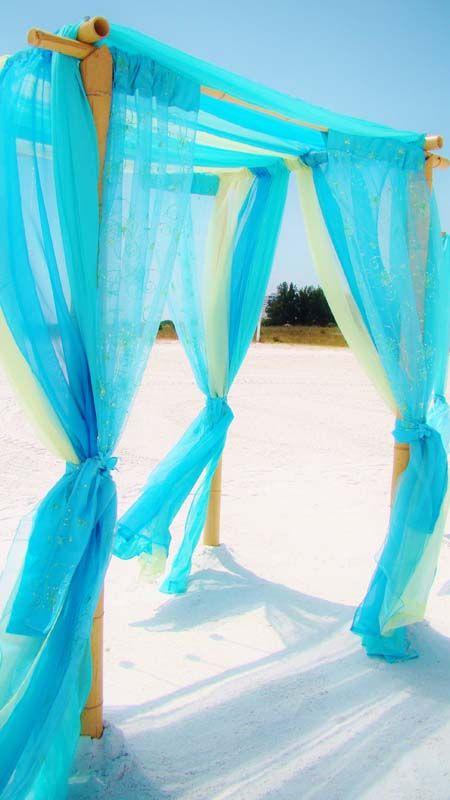 #Caribbean blue wedding  #aqua beach wedding
